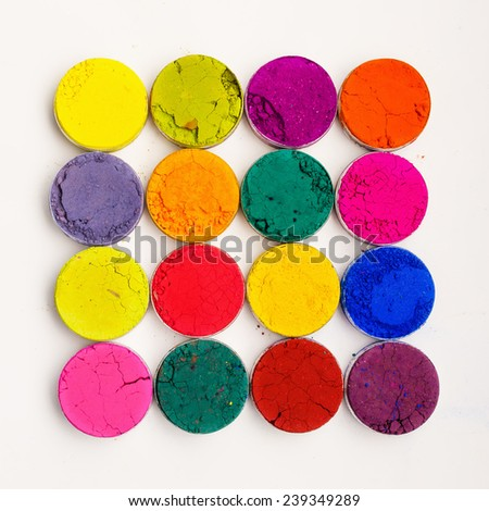 Colorful Indian Holi festival dyes - stock photo