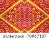 Colorful Indian Saree Fabric Floral Patterned Background - stock photo