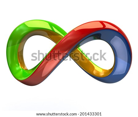 Colorful infinity symbol - stock photo