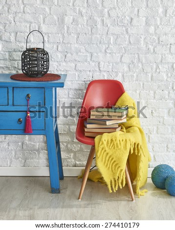 colorful interior design - stock photo