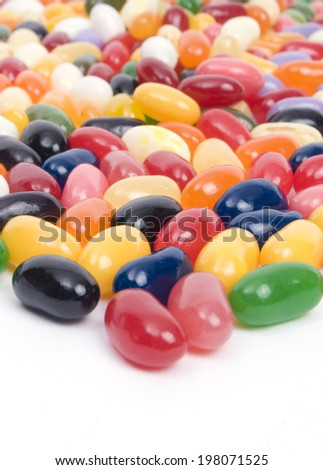 Colorful jelly beans - stock photo