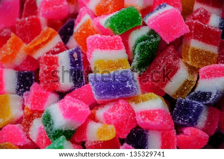 colorful (jelly) candies - stock photo
