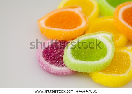 colorful jelly candies as background