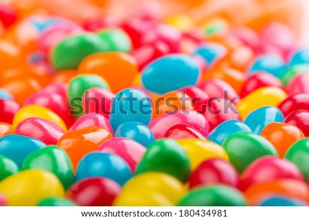 colorful jellybeans - stock photo