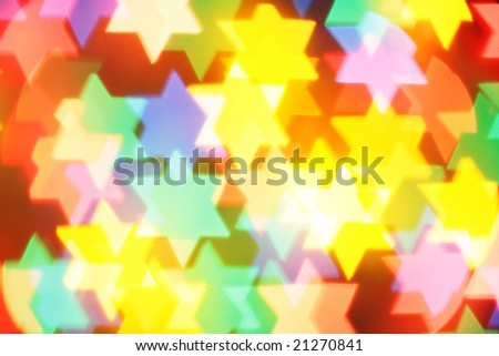 Colorful jewish stars, may be used as background - stock photo