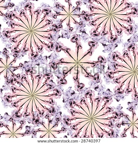 Colorful kaleidoscope pattern (abstract design) - stock photo