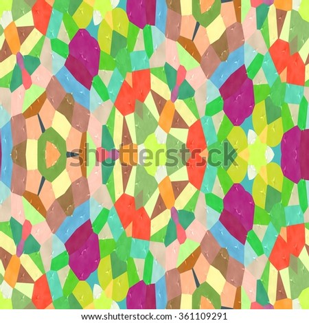 Colorful Kaleidoscopic mosaic seamless texture or background