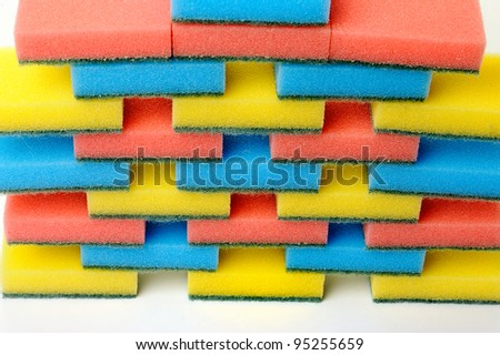 colorful kitchen sponges for ware washing