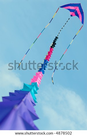 Colorful Kite at Blue Sky