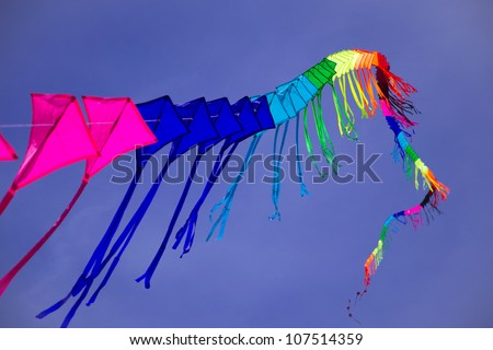 colorful kite in the sky - stock photo