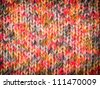 Colorful knitted pattern with vignette - stock photo