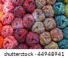 Colorful knitting yarn balls - stock photo