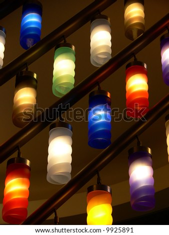 Colorful lamps - stock photo