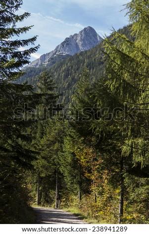 Colorful landscapes close to Leutaischklamm, Germany. - stock photo