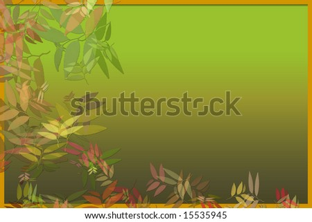 Colorful, Leafy Illustrated Background