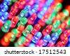 Colorful LED background with dozens transparent LEDs - stock photo