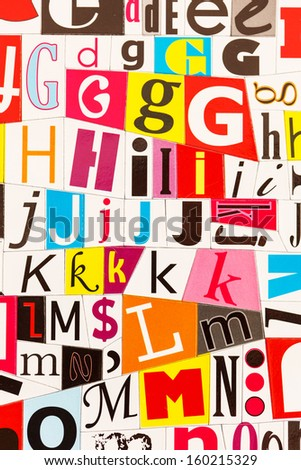colorful letters - stock photo