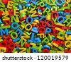 colorful  letters background - stock photo
