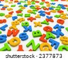 Colorful letters isolated on white background 3D - stock photo