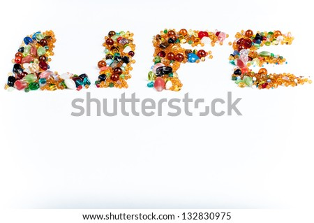 colorful life - stock photo