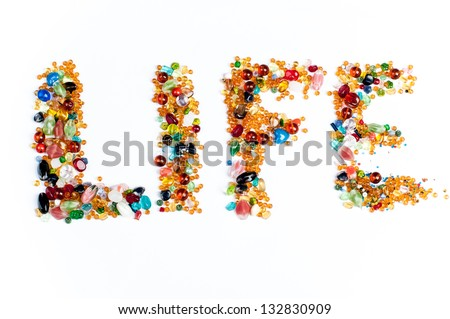 colorful life sign - stock photo
