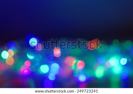 colorful light bokeh background - stock photo