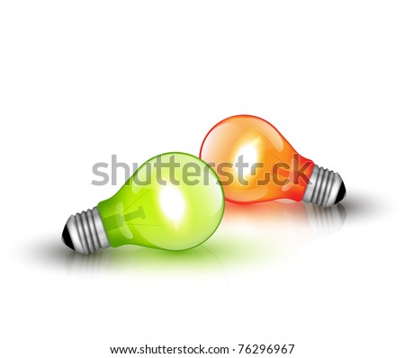 Colorful Light Bulbs - stock photo