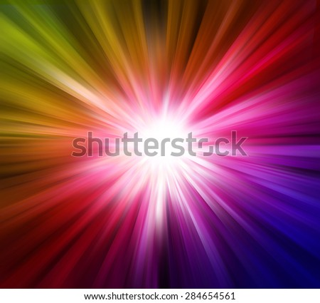 Colorful light explosion effects background - stock photo