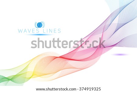 colorful light waves line bright abstract pattern illustration curve raster illustration
