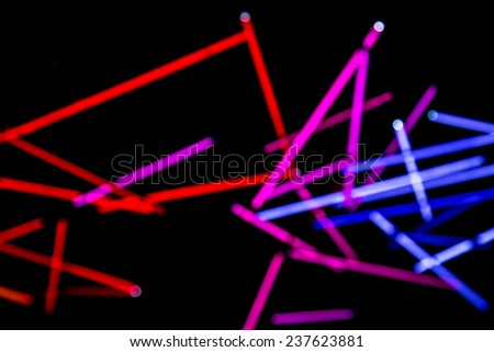Colorful lights abstract background - stock photo