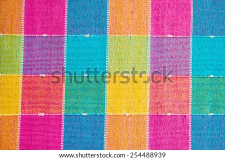 Colorful linen texture background - stock photo