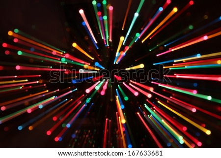 Colorful Lines Zooming - stock photo