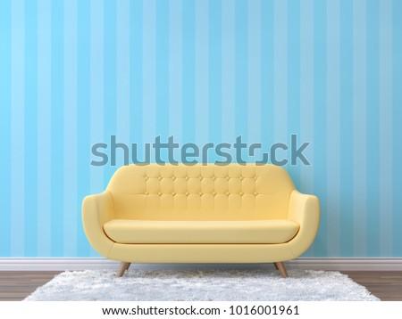 Colorful Living Room Pastel Color 3 D Stock Illustration 1016001961 ...