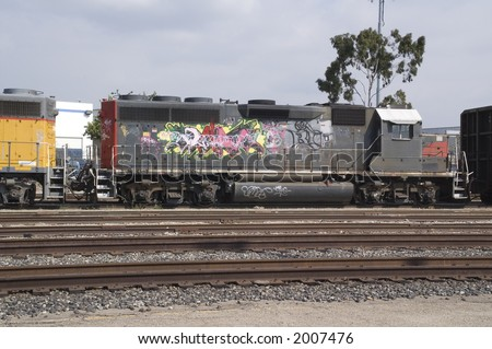 Colorful Locomotive - stock photo