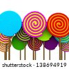 Colorful Lollipop - stock vector