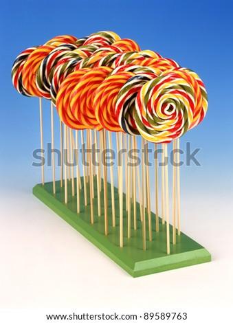colorful lollipop - stock photo