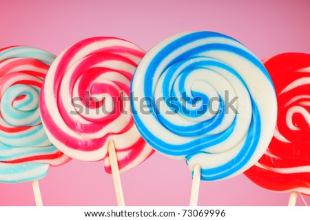 Colorful lollipop against the background - stock photo