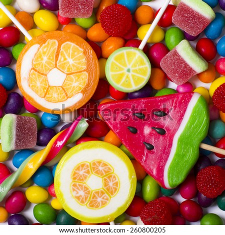 Colorful lollipops - stock photo