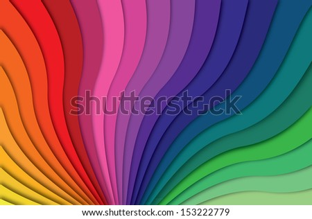 Colorful love waves - stock photo