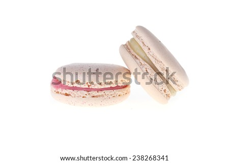 colorful macaron sweet tasty dessert isolated on white background