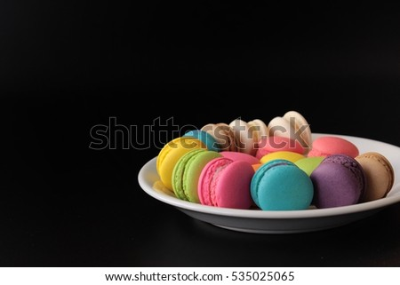 colorful macarons are sweet