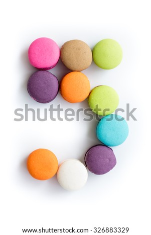 Colorful macarons,number 5