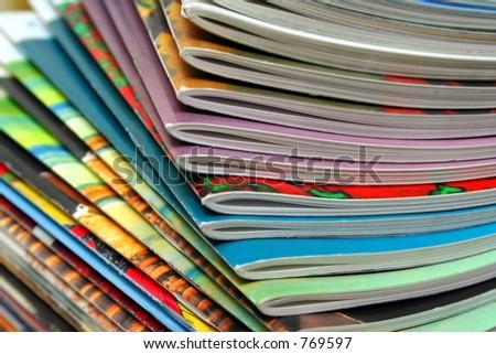 Colorful magazines - stock photo