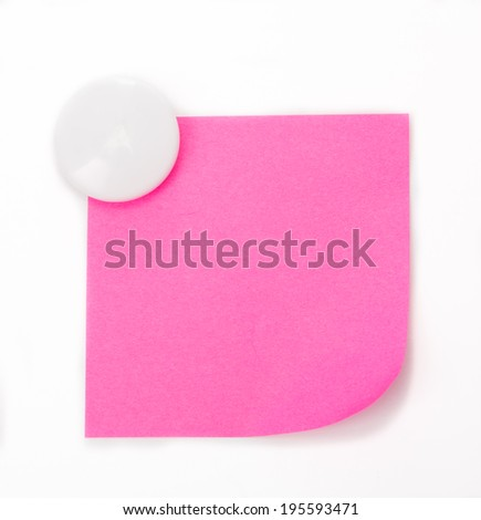 Colorful magnet paper isolated with white bakcground