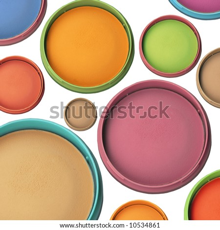 Colorful Makeup Collection - stock photo