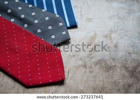 Colorful man ties - stock photo