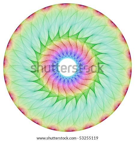 Colorful mandala isolated on the white background. - stock photo