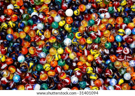 Colorful marble balls - stock photo