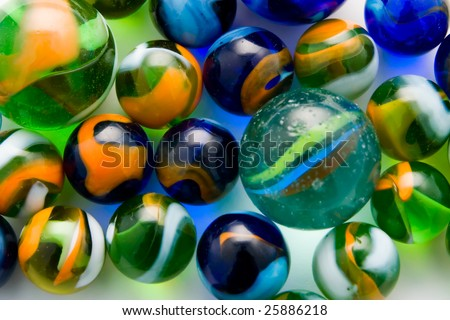Colorful marble balls as a background - stock photo