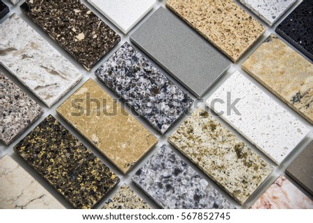 Colorful Marble Counter Color Samples